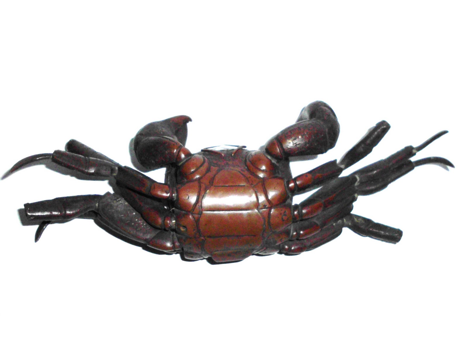 c. 1800 Chinese Bronze Red Crab with Detailed Anatomy; Articulated ...