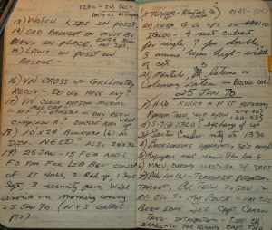 This is January 24 & 25, 1970 post.