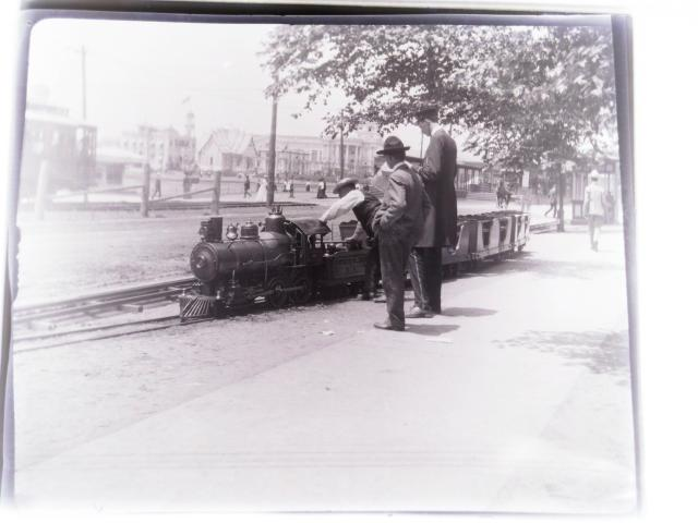 1904 St. Louis World Fair Showing A Cagney Brothers Miniature Train With Ad On Side For Pocahontas Smokeless Coal