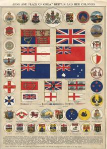 Arms & Flag of Great Britain & her colonies