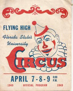 2nd Annual Flying High Florida State University Circus April 7, 8, 9 1949