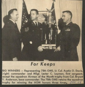 Col Davis, Airman of Month Trophy 2015-04-15 001